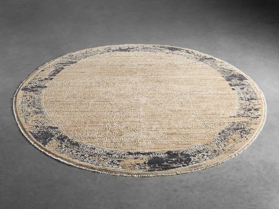 Grayson 8' Hand Knotted Round Rug in Beige, slide 2 of 4