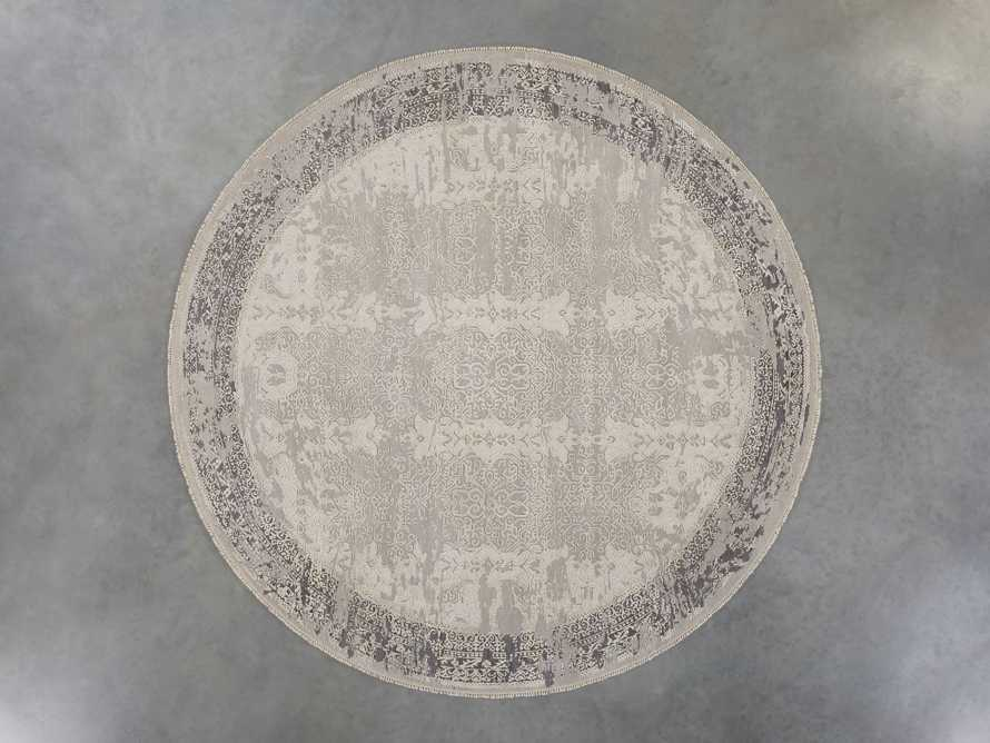 Grayson 8' Hand Knotted Round Rug in Grey, slide 3 of 6