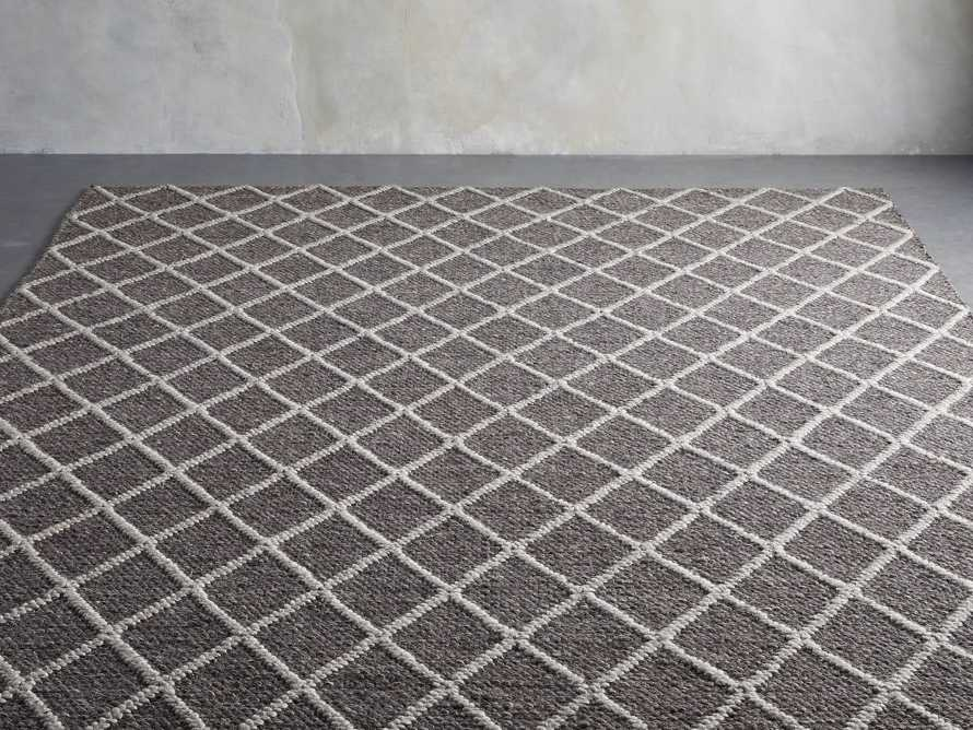 Canyon 6' x 9' Handwoven Rug in Graphite, slide 2 of 3