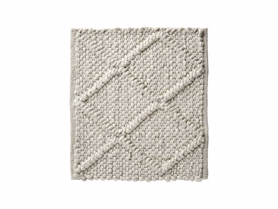 "Canyon Handwoven 18"" Rug Swatch in Ivory"