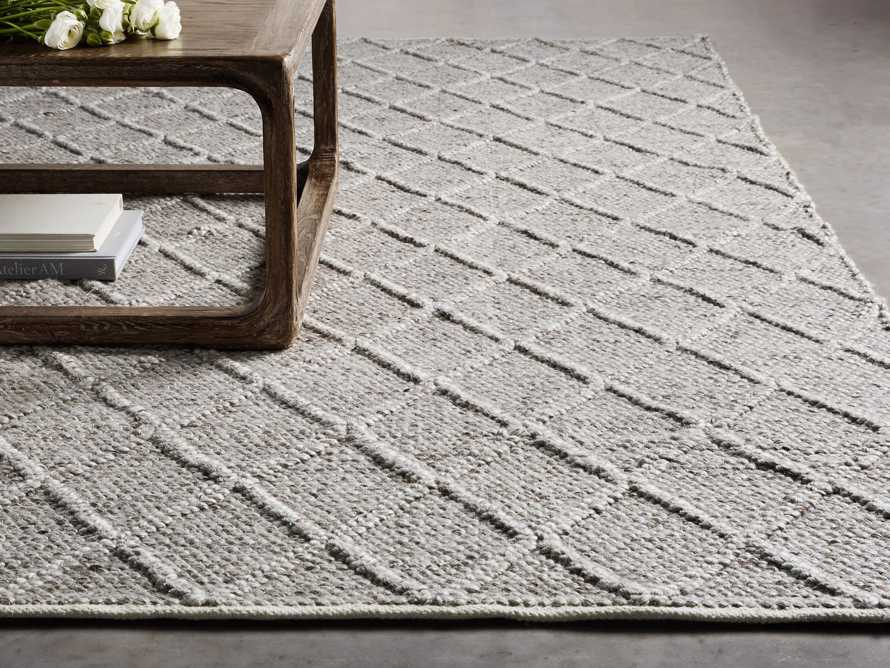 Canyon 6x9 Handwoven Rug in Silver