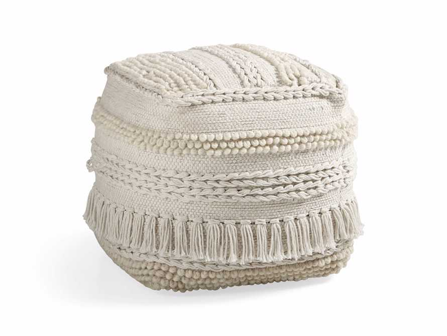 Charlie Ivory Shag Pouf - Come take a peek at more Arhaus French Vintage Timeless Furniture, Decor and Lighting on Hello Lovely Studio.