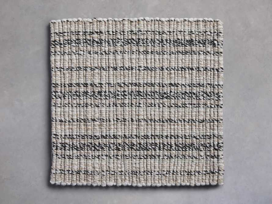 Dover Rug Swatch in Black and Ivory, slide 1 of 1