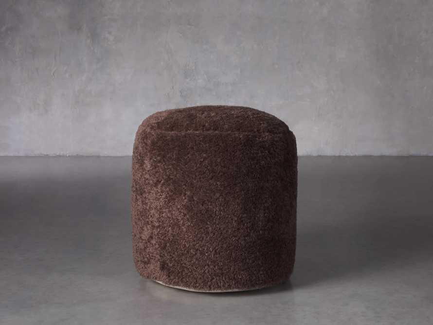 Faux Sheepskin Pouf, slide 1 of 2