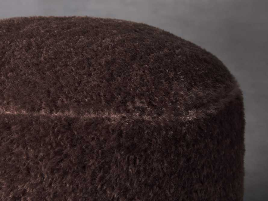Faux Sheepskin Pouf, slide 2 of 2