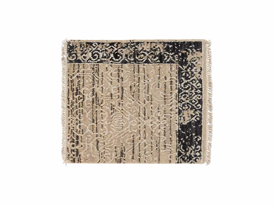 "Grayson Hand Knotted 18"" Beige Rug Swatch, slide 1 of 1"