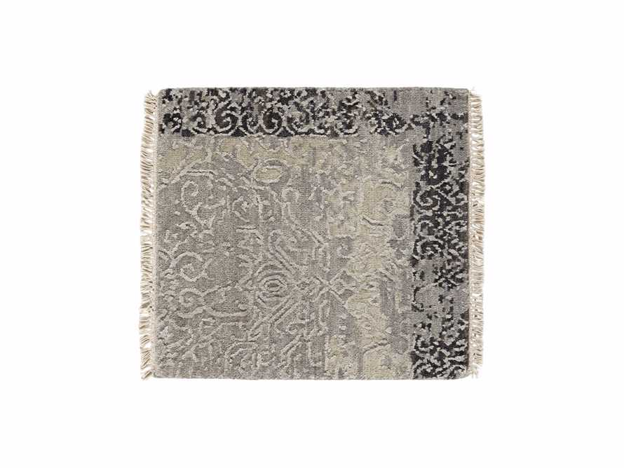 "Grayson Hand Knotted 18"" Grey Rug Swatch"