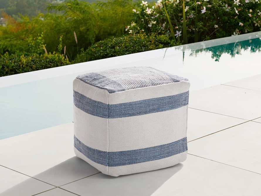 Harbor Indoor/Outdoor Pouf, slide 1 of 5
