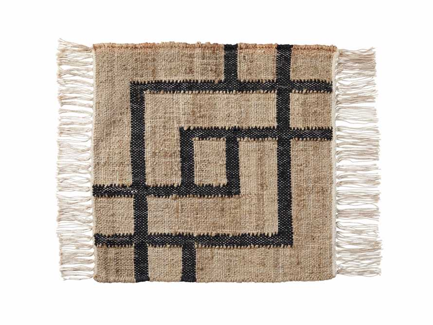 "Hayes Jute Flatweave 18"" Rug Swatch, slide 1 of 1"