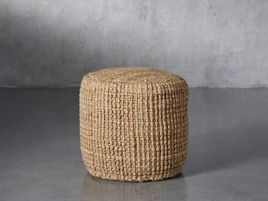 Laos Jute Pouf, slide 1 of 5