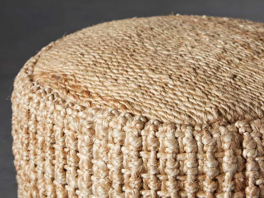 Laos Jute Pouf, slide 2 of 5