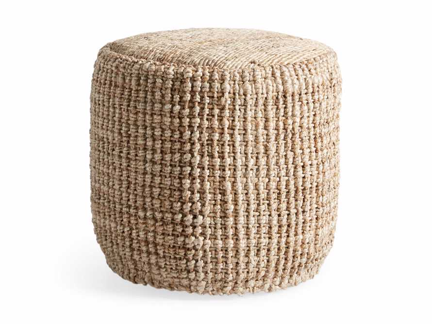 Laos Jute Pouf, slide 5 of 5