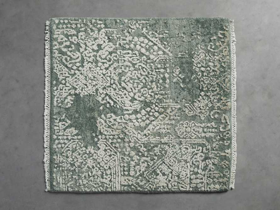 Lascala Handknotted Rug Swatch in Celadon, slide 1 of 1