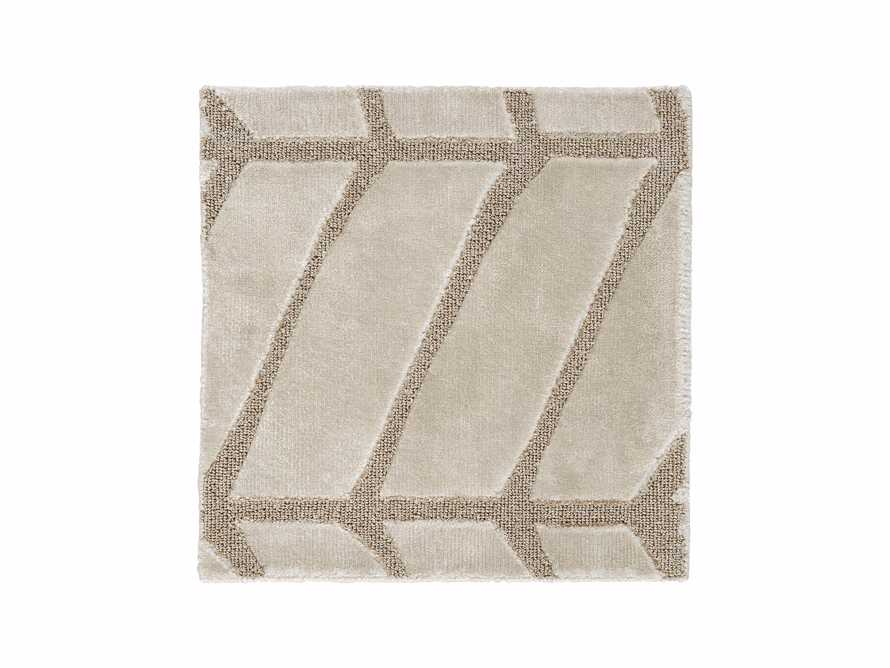 """Seville 18"""" Hand Knotted Rug Swatch in Ivory"""