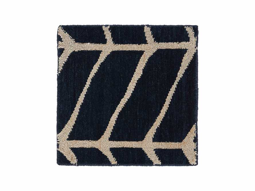 "Seville 18"" Hand Knotted Rug Swatch in Navy"