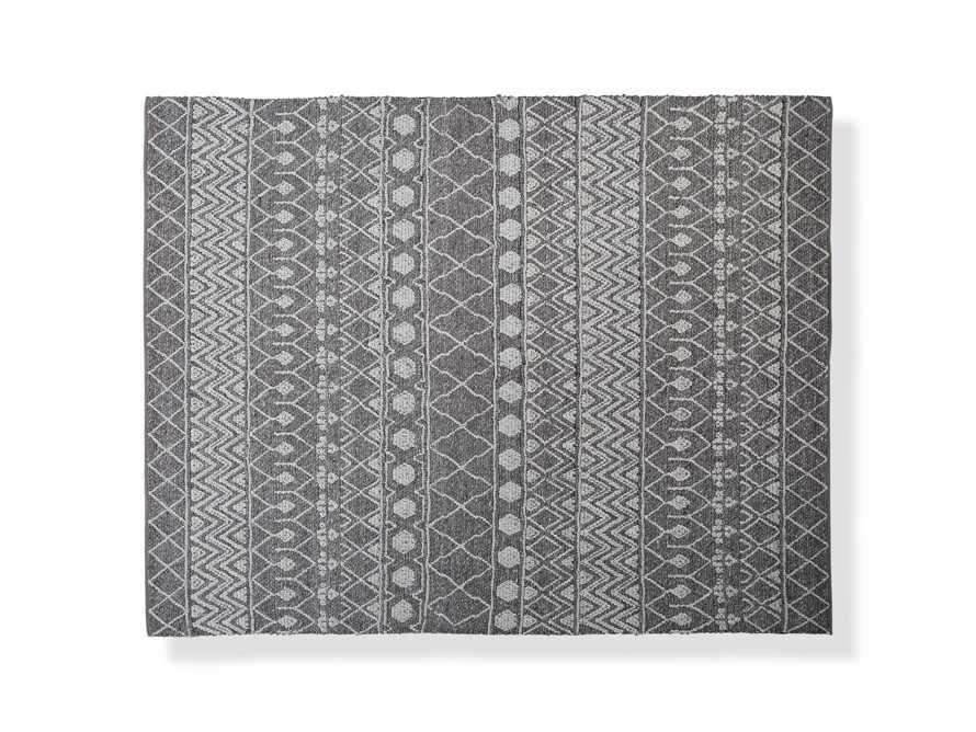 Shilo 8' x 10' Handwoven Rug in Graphite, slide 1 of 2