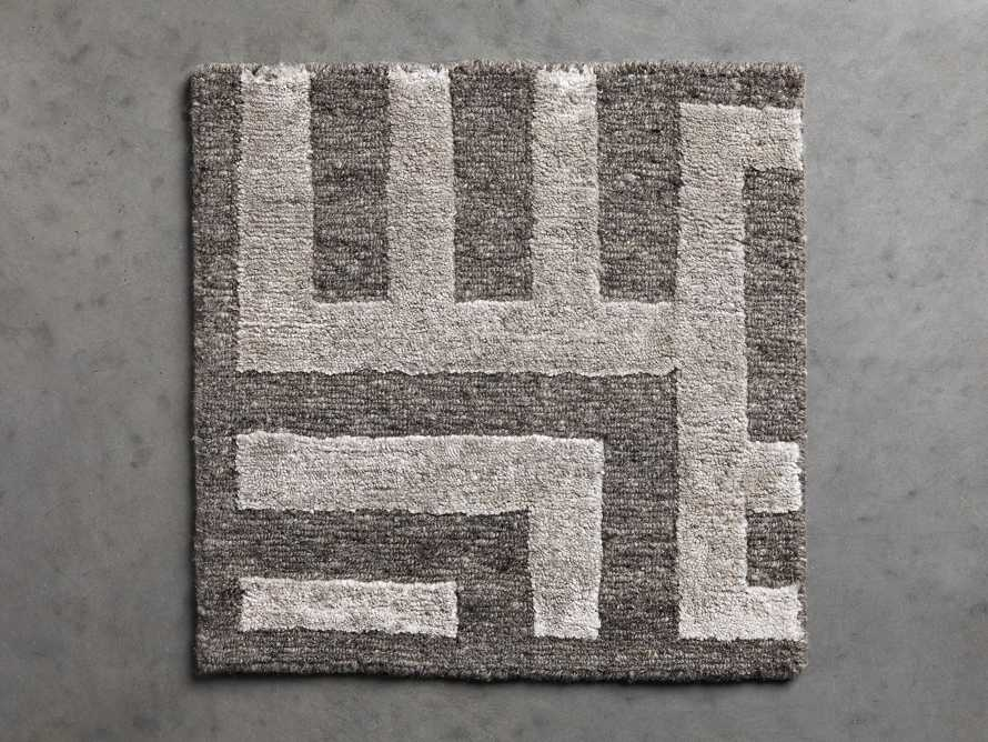 Trellis Handwoven Rug Swatch in Charcoal, slide 1 of 1