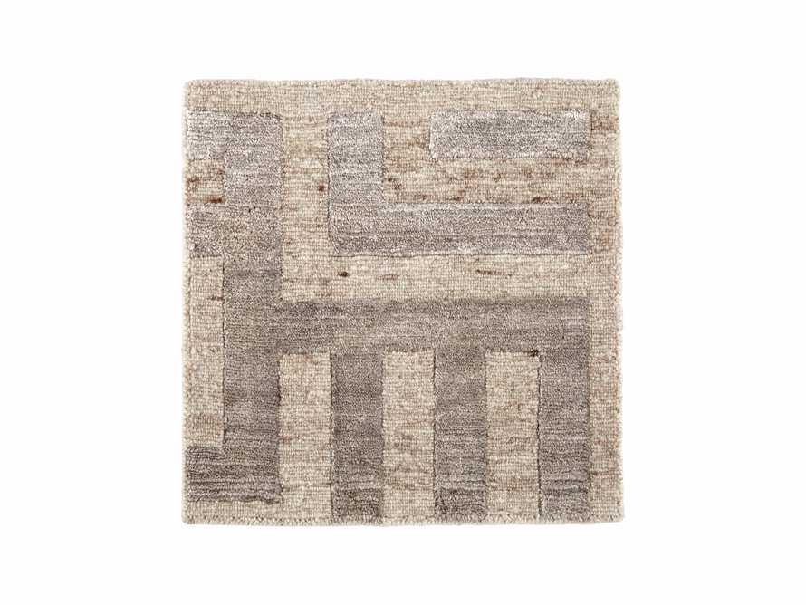 "Trellis Hand-Knotted 18"" Rug Swatch in Ivory"