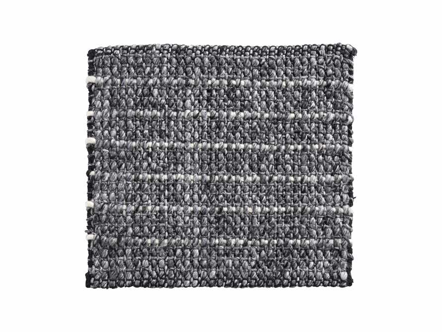 "Valencia Handwoven 18"" Rug Swatch in Graphite, slide 1 of 1"
