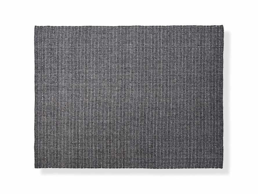Valencia 6' x 9' Handwoven Rug in Graphite, slide 1 of 2