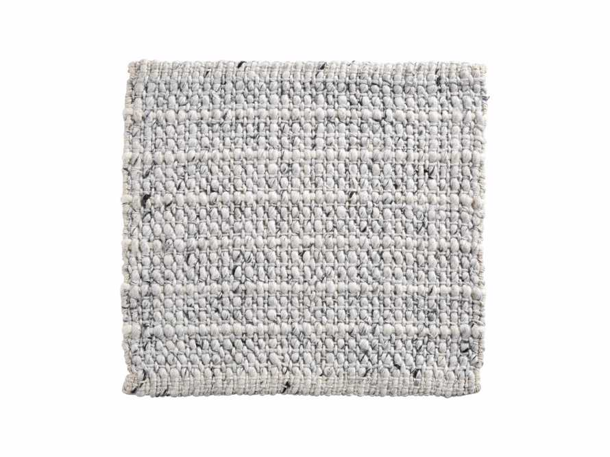 "Valencia Handwoven 18"" Rug Swatch in Ivory"