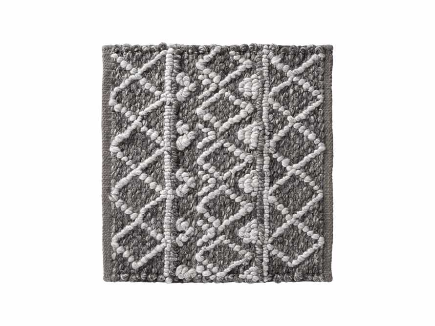 """Shilo Handwoven 18"""" Rug Swatch in Graphite, slide 1 of 1"""