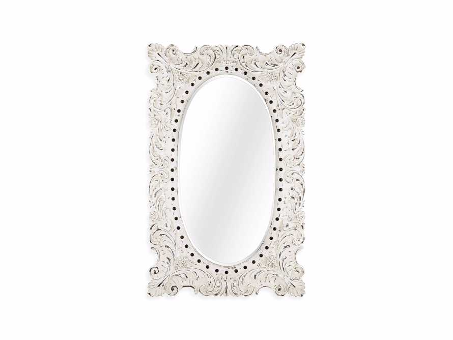 "MERLE 52"" X 84"" HAND CARVED LARGE MIRROR IN WHITE"