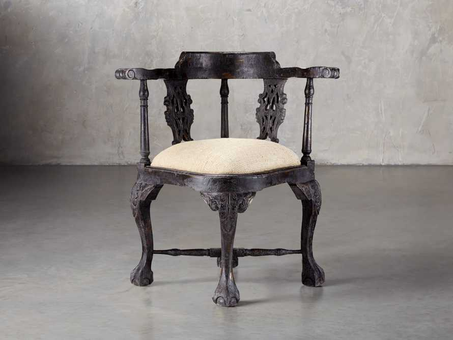Merle Corner Chair In Black