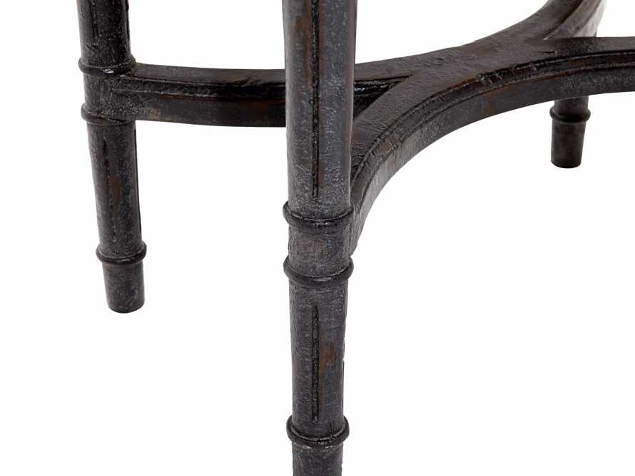 Merle Caned End Table in Black, slide 6 of 6