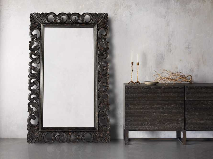 "BECKETT 53"" X 84"" HAND CARVED MIRROR"