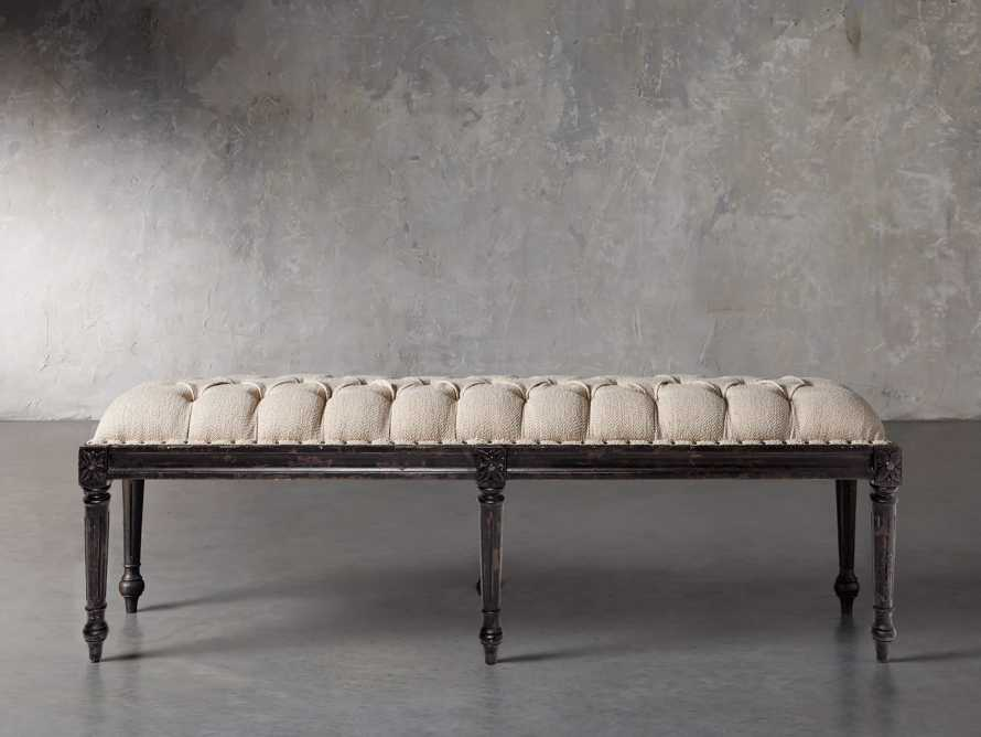 "Merle Upholstered 67"" Bench, slide 1 of 3"