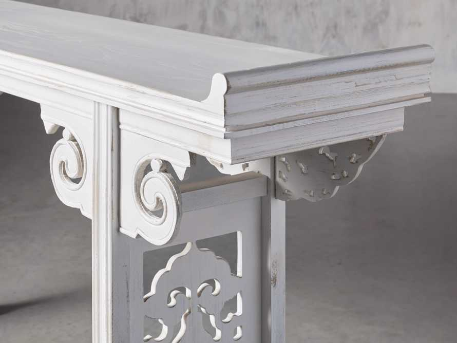 "86"" Altar Table in Cream"