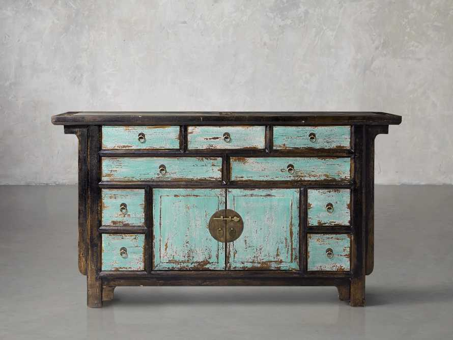 "Ming 60"" Buffet in Teal, slide 1 of 4"