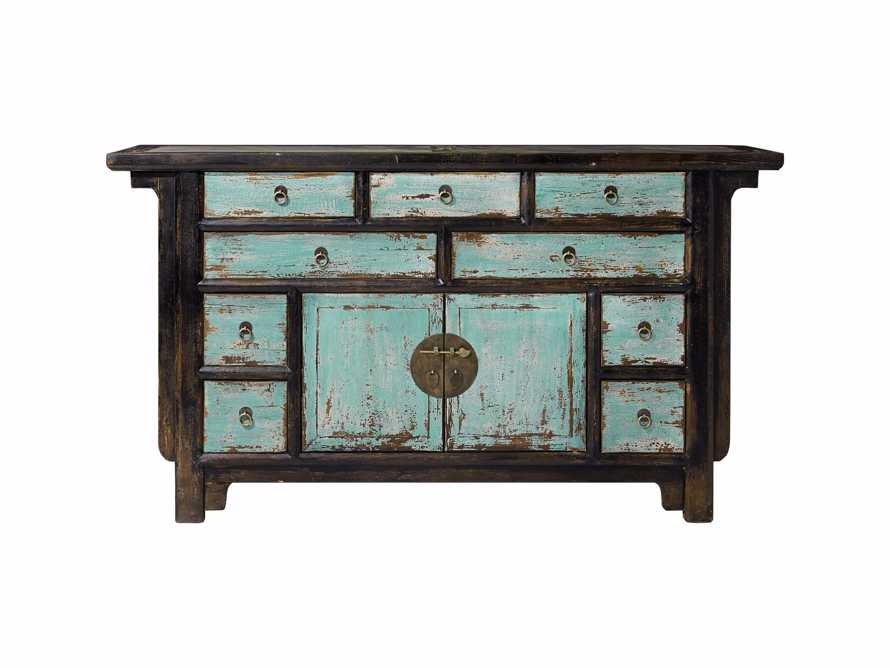 "Ming 60"" Buffet in Teal, slide 2 of 4"