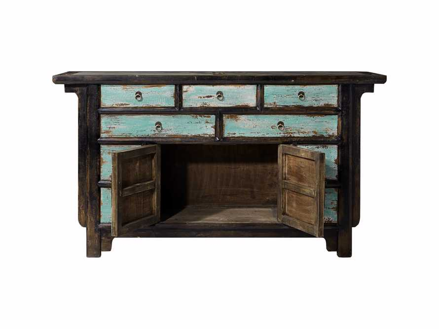 "Ming 60"" Buffet in Teal, slide 3 of 4"