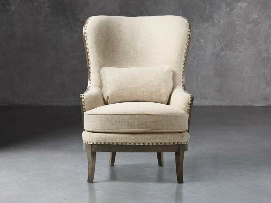 """Portsmouth 32"""" Upholstered Chair in 8402 Natural, slide 2 of 8"""