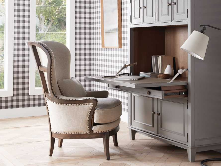 """Portsmouth 32"""" Upholstered Chair in 8402 Natural, slide 1 of 8"""