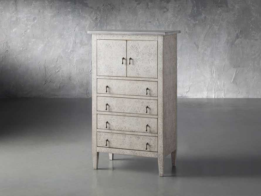 """Amalfi 31.5"""" Small 2 Door Cabinet with 4 Drawers in Bianco with Grigio, slide 2 of 5"""