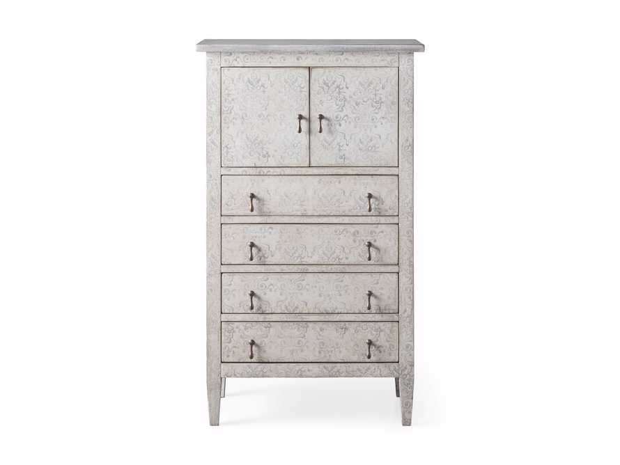 """Amalfi 31.5"""" Small 2 Door Cabinet with 4 Drawers in Bianco with Grigio, slide 5 of 5"""