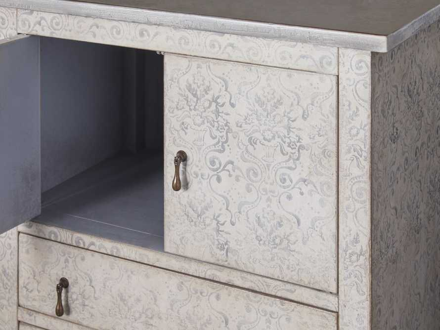 """Amalfi 31.5"""" Small 2 Door Cabinet with 4 Drawers in Bianco with Grigio, slide 3 of 5"""