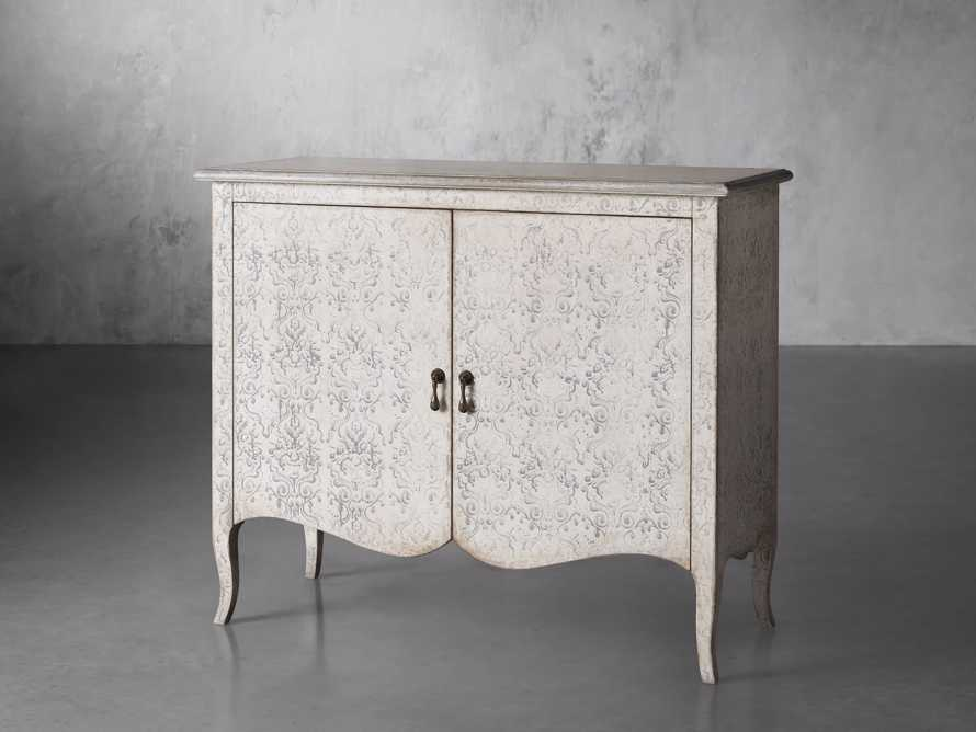 "Amalfi 44.5"" Modello Isabella 2 Door Chest in Bianco with Grigio, slide 2 of 5"