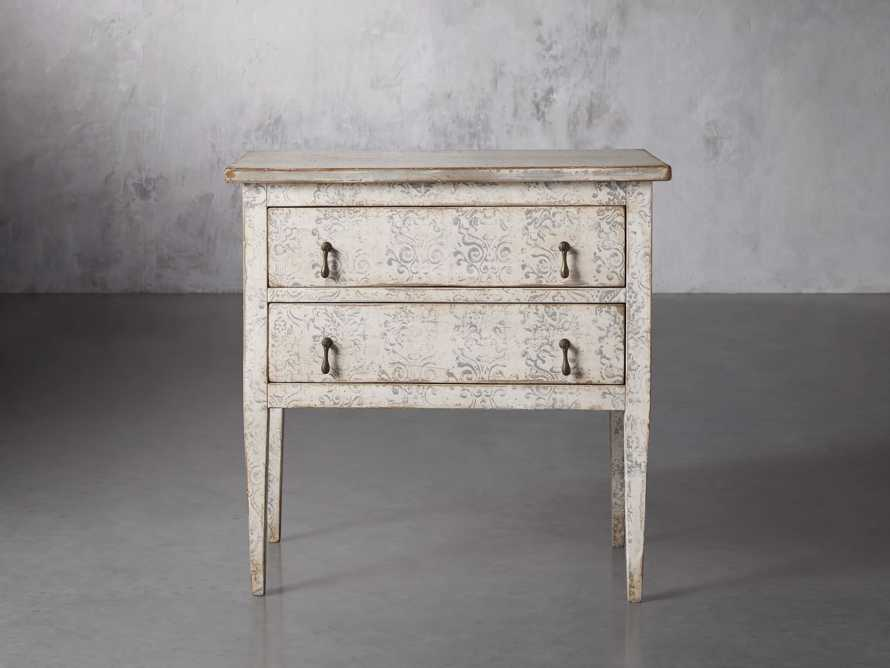 """Amalfi 31.5"""" Small Two Chest Drawer in Bianco with Grigio, slide 1 of 5"""