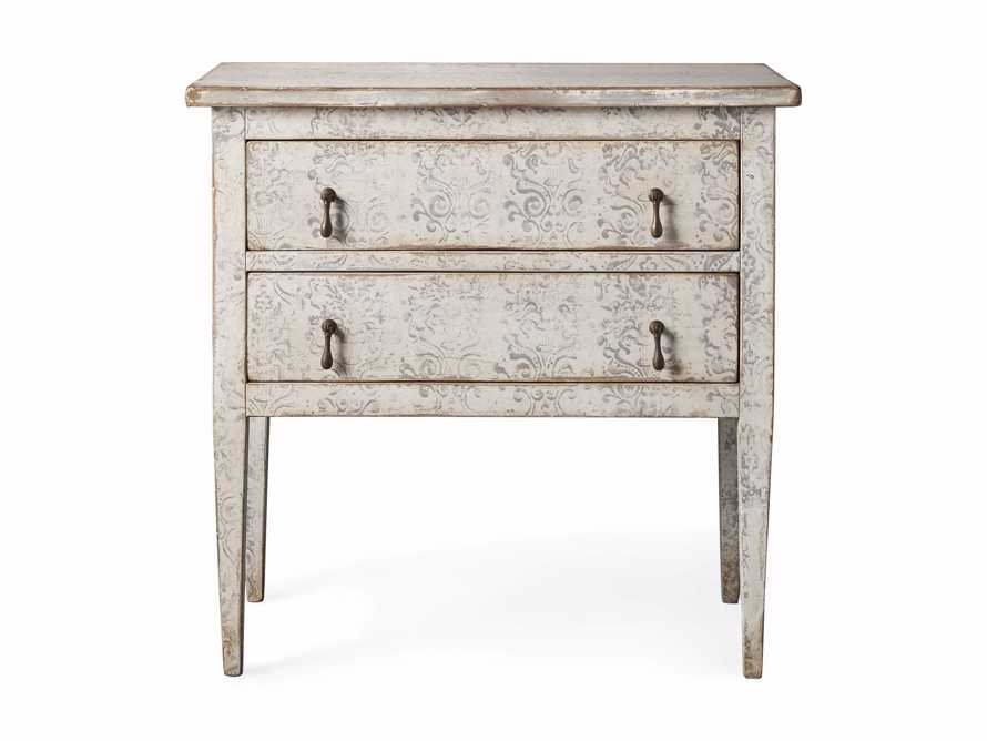 """Amalfi 31.5"""" Small Two Chest Drawer in Bianco with Grigio, slide 4 of 5"""