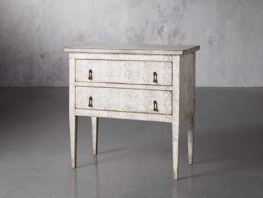"""Amalfi 31.5"""" Small Two Chest Drawer in Bianco with Grigio, slide 2 of 5"""