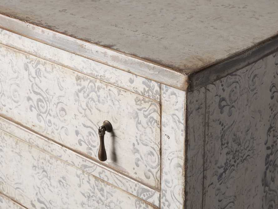 """Amalfi 31.5"""" Small Two Chest Drawer in Bianco with Grigio, slide 3 of 5"""
