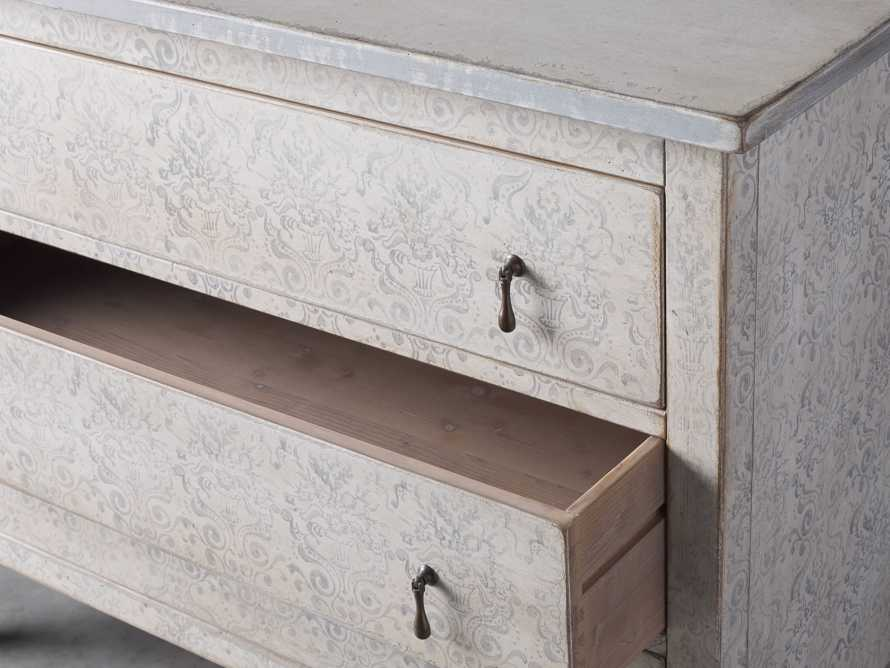 """Amalfi 50"""" Three Chest Drawer in Bianco with Grigio, slide 3 of 5"""
