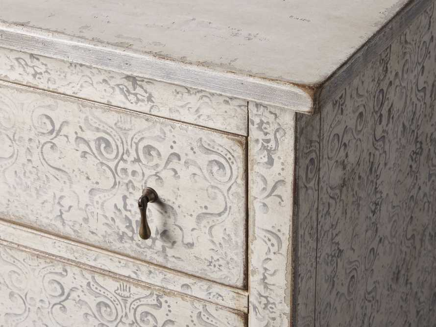 "Amalfi 63"" Six Chest Drawer in Bianco with Grigio, slide 3 of 5"