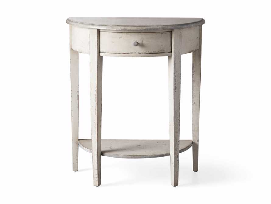 "Amalfi 24.5"" Demilune Side Table in Bianco, slide 4 of 4"