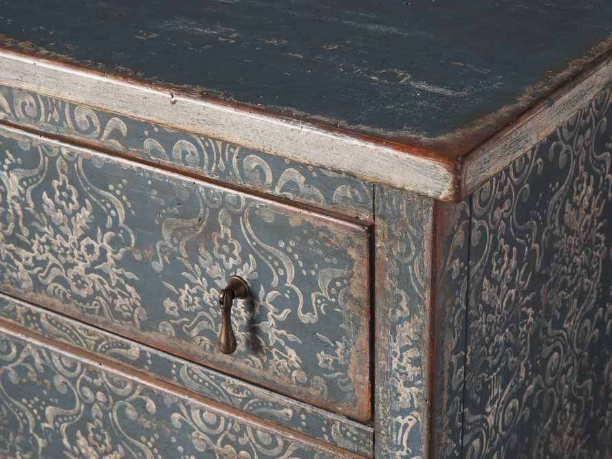 "Amalfi 31.5"" Small Two Chest Drawer in Blue Grigio with White, slide 3 of 5"