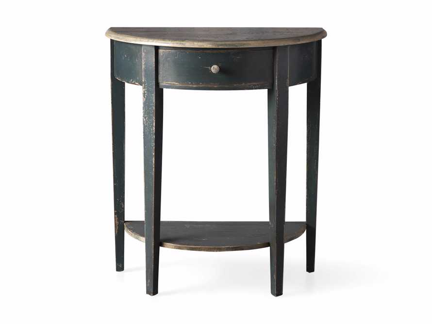 "Amalfi 24.5"" Demilune Side Table in Blue Grigio, slide 3 of 3"